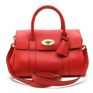 MULBERRY BAYSWATER SATCHEL CLASSIC GRAIN RED HH2855/205L665